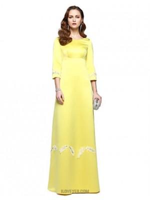 A Line Jewel Neck Floor Length Chiffon Prom Australia Formal Evening Dress with Beading Pleats