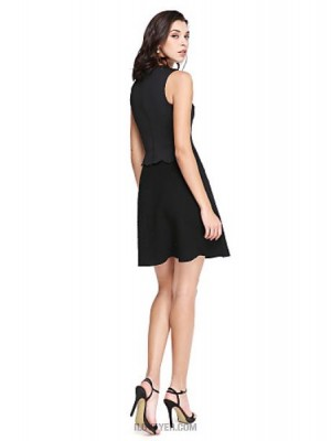 Sheath Column Jewel Neck Short Mini Jersey Australia Cocktail Party Homecoming Prom Dress with Bow Sequins