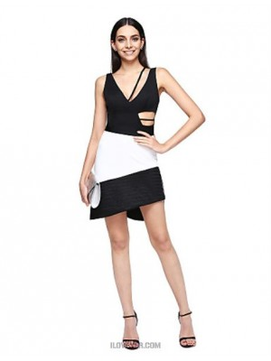 A Line Scalloped Short Mini Charmeuse Matte Satin Australia Cocktail Party Prom Dress with Pleats