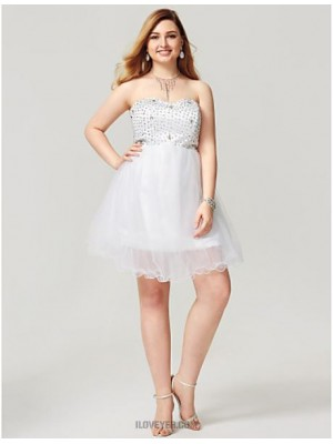 A Line Sweetheart Short Mini Satin Tulle Australia Cocktail Party Homecoming Dress with Crystal Detailing Pleats Bandage