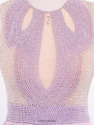 A Line Jewel Neck Floor Length Chiffon Australia Formal Evening Dress with Beading Pearl Detailing