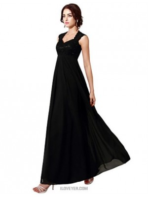 A Line Halter Floor Length Chiffon Lace Australia Formal Evening Dress with Embroidery