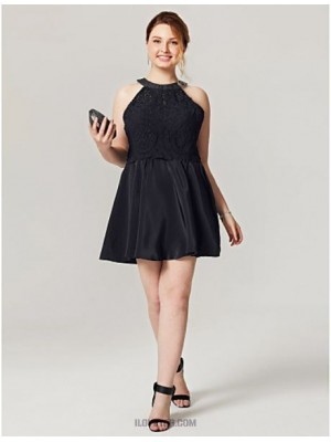 A Line Jewel Neck Short Mini Chiffon Lace Australia Cocktail Party Homecoming Dress with Buttons Pleats