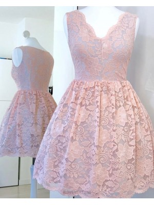 Jewel Embroidered Pink Pleat Homecoming Dress With Long Sleeves Hd3334