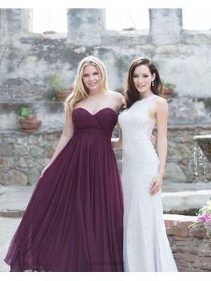 Sweetheart Ruched Chiffon Simple Burgundy Bridesmaid Dress
